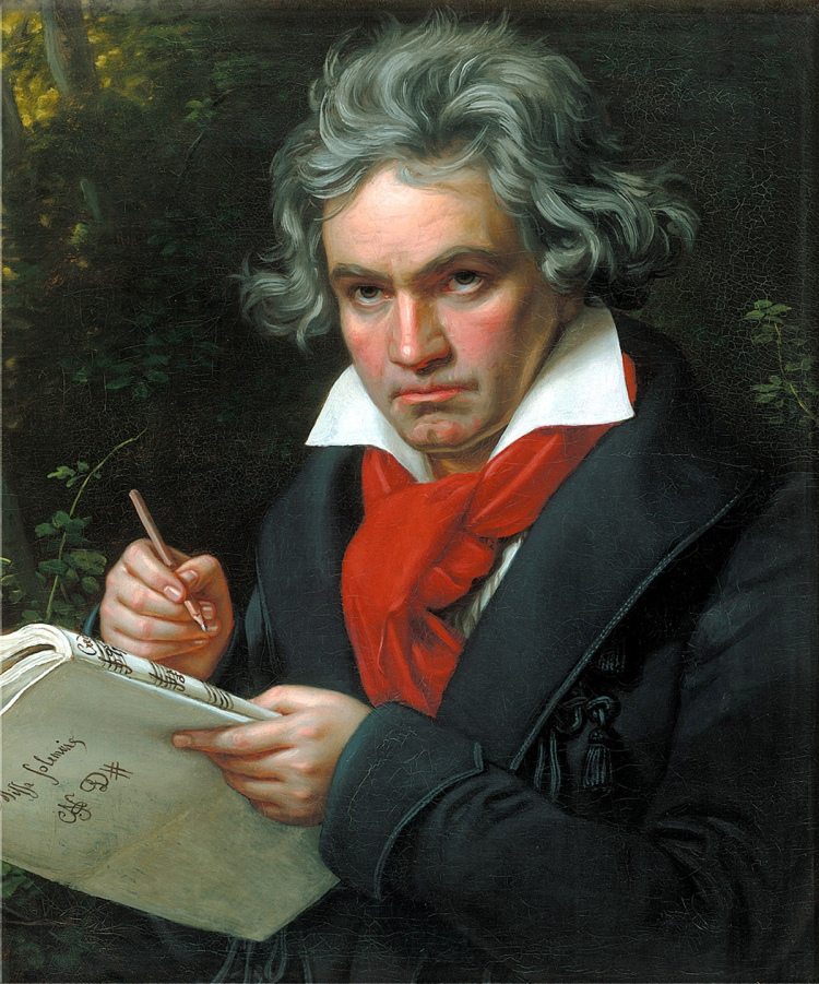 Joseph Karl Stieler (1781-1858), 'Portrait of Ludwig van Beethoven When Composing the Missa Solemnis', 1820, oil on canvas, Beethoven-Haus, Bonn
