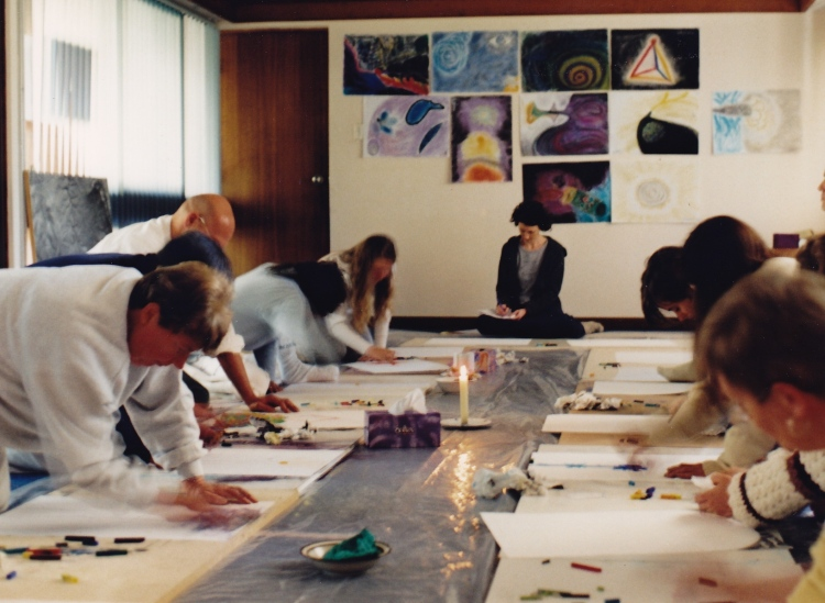 "Janis Lander: Vision Art Workshop - 'Observing the energy body (centres and channels)/Observing thoughts and emotions/Understanding the dynamic interaction of colours and ""sacred geometry"" in the making of an image'"