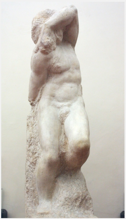 Michelangelo, 'The Young Slave', marble, c. 1530-34, Galleria dell'Accademia di Firenze, Florence