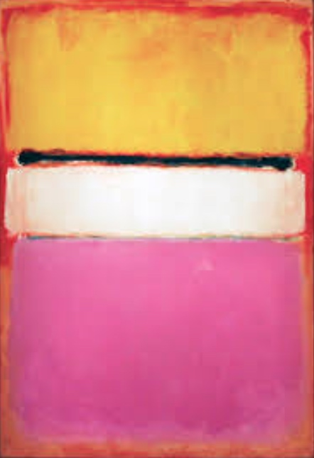 Mark Rothko, White Centre (Yellow, Pink and Lavender on Rose), 1950, oil on canvas, private collection, Qatar