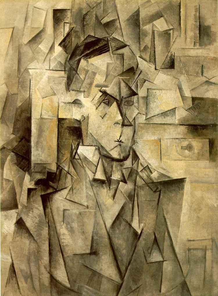 Pablo Picasso, Portrait of Wilhelm Uhde, 1910. Oil on canvas, private collection. 'No doubt the wisdom of the artist may be the guide of the work; it is sufficient explanation of the wisdom exhibited in the arts; but the artist himself goes back, after all, to that wisdom in Nature which is embodied in himself; and this is not a wisdom built up of theorems but one totality, not a wisdom consisting of manifold detail co-ordinated into a unity but rather a unity working out into detail.' Enneads V.8.5. The 'faceting' of 'Analytic Cubism' could be interpreted as depicting the ghostly, fragmentary nature of material existence at the same time as seeking to evoke the second hypostasis, Intellect.
