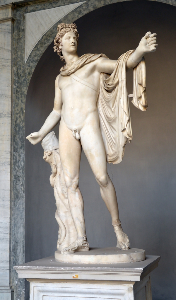 'Apollo (of the) Belvedere', marble, after lost bronze original by Greek sculptor Leochares, c. 350-325BC, Vatican Museum, Vatican City