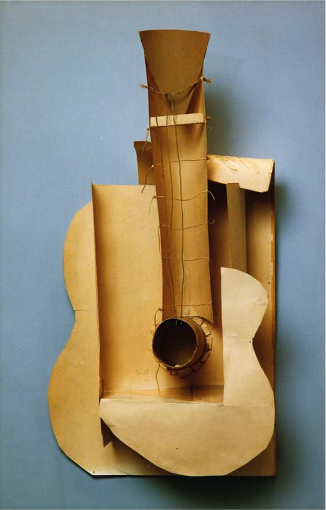 Pablo Picasso, Maquette for a sculpture of a guitar; paperboard ... Under Construction Signs