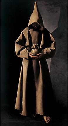 Francisco de Zurbarán (1598-1664), 'Saint Francis of Assisi in His Tomb', 1630-1634, oil on canvas, Milwaukee Art Museum