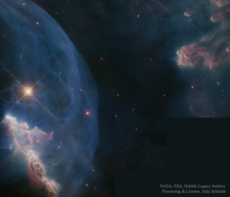 Close-up of the Bubble Nebula