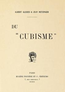 """Albert Gleizes and Jean Metzinger, Du """"Cubisme"""", Eugène Figuière Editeurs, 1912"""