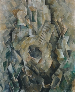 Georges Braque, 1910, La guitare (Mandora, La Mandore) oil on canvas, Tate Modern, London (Image, Wikipedia)