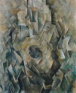 Georges Braque, 1910, La guitare (Mandora, La Mandore) oil on canvas, Tate Modern, London (Image, Wikipedia)