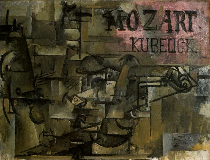 Georges Braque, 1912, The Violin (Mozart-kubelick), oil on canvas, private collection, Basel, Switzerland (Image, Wikipedia)