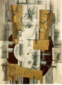 Georges Braque, 'Nature more', (Fruit Dish, Ace of Clubs) oil, gouache and charcoal on canvas, Musée National d'Art Moderne, Centre Georges Pompidou, Paris