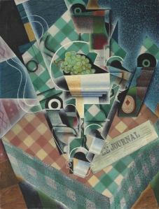 Juan Gris. Still Life with Checkered Tablecloth, 1915, Private collection