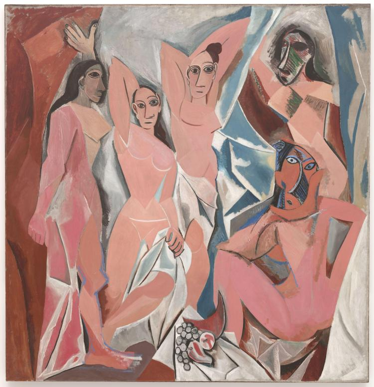 Pablo Picasso, Les Demoiselles d'Avignon, oil on canvas, 1907, Museum of Modern Art, New York