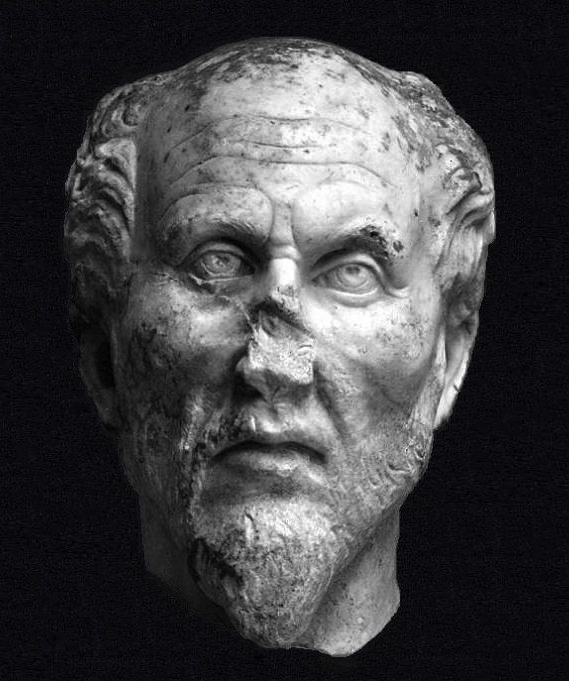 Plotinus (204/5-270), Anonymous, white marble, Ostiense Museum, Ostia Antica, Rome