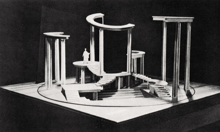 Isaac Rabinovich. Set for Aristophanes' comedy Lysistrata, 1923. Bakhrushin Theatre Museum, Moscow