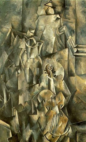 Georges Braque. Pitcher and Violin, 1910