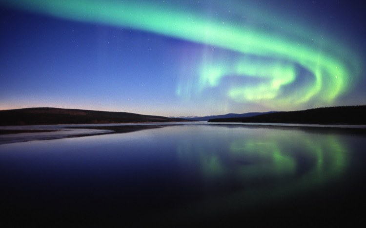 Aurora over Nitsutlin Bay, Teslin, Yukon