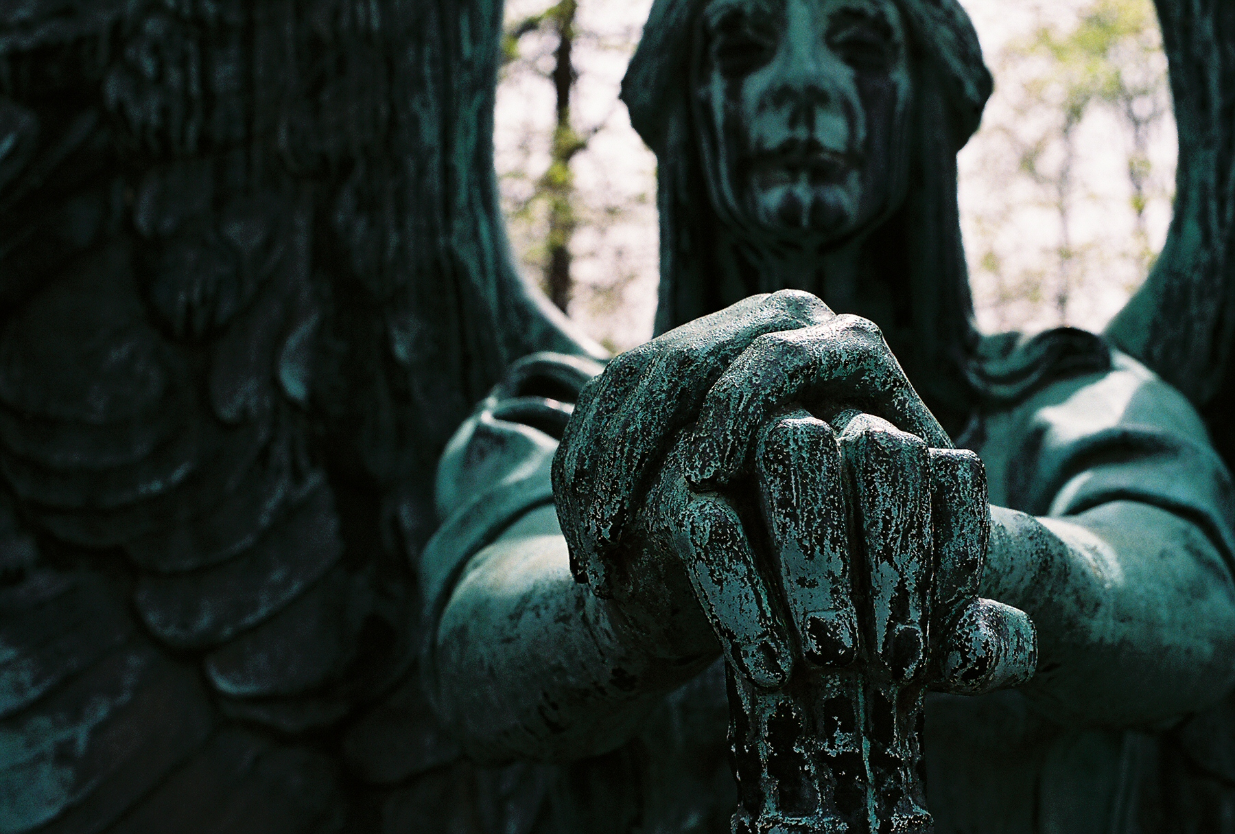 Herman Matzen, 'Angel of Death Victorious' ('Haserot Angel'), bronze, 1924. Lake View Cemetery, Cleveland, Ohio