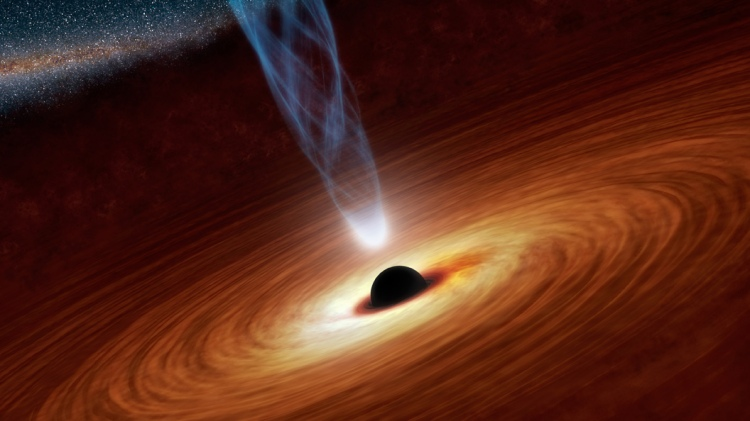Spin up of a super-massive black hole
