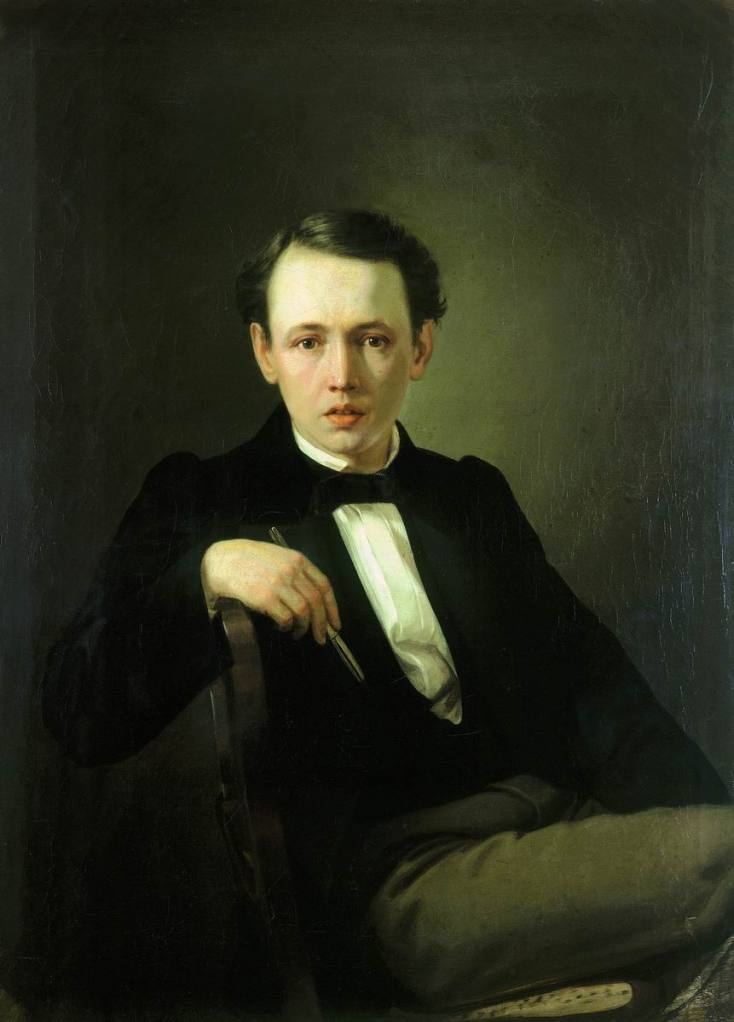 Vasily Perov, 'Self-portrait', 1851, oil on canvas, Museum of Russian Art, Kiev