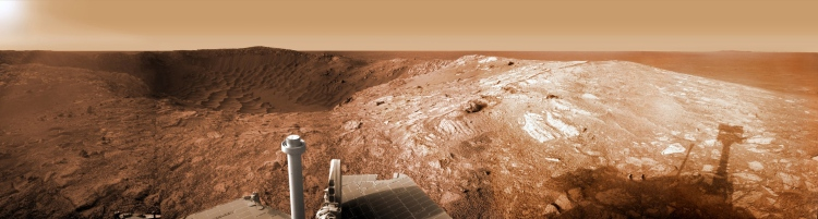 Opportunity at Santa Maria Crater, Mars, 2011