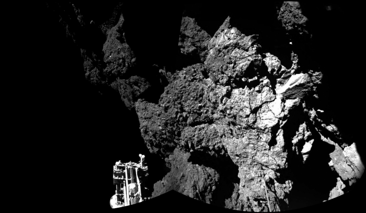 Philae on comet 67P Churyumov-Gerasimenko, 2014