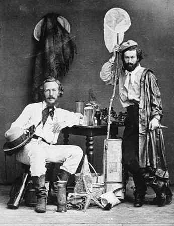 Ernst Haeckel with Nicholai Miklukho-Maklai, his assistant, in the Canary Islands, 1866