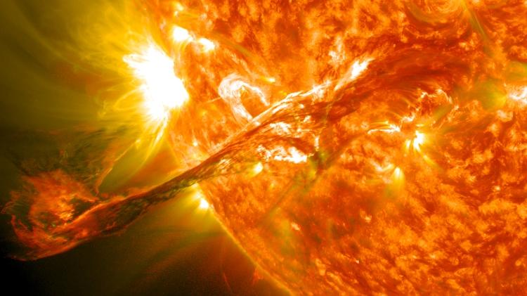 A Solar Filament Erupts