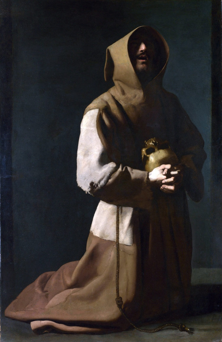 Francisco de Zurbarán, Saint Francis in Meditation, 1635-1639, oil on canvas, National Gallery, London