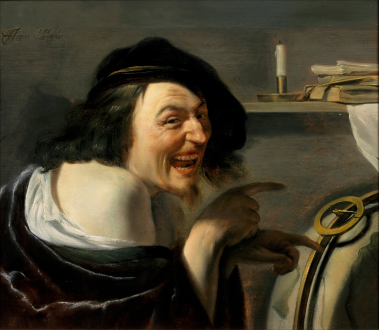 Democritus, Johannes Moreelse, oil on canvas, c. 1630, Centraal Museum, Utrecht