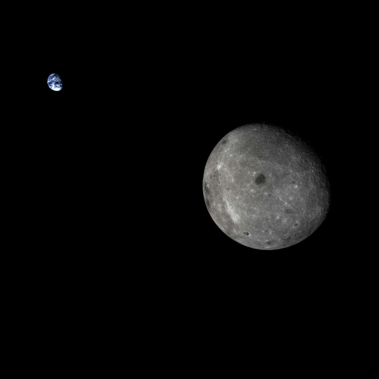 Moon and Earth from Chang'e 5-T1