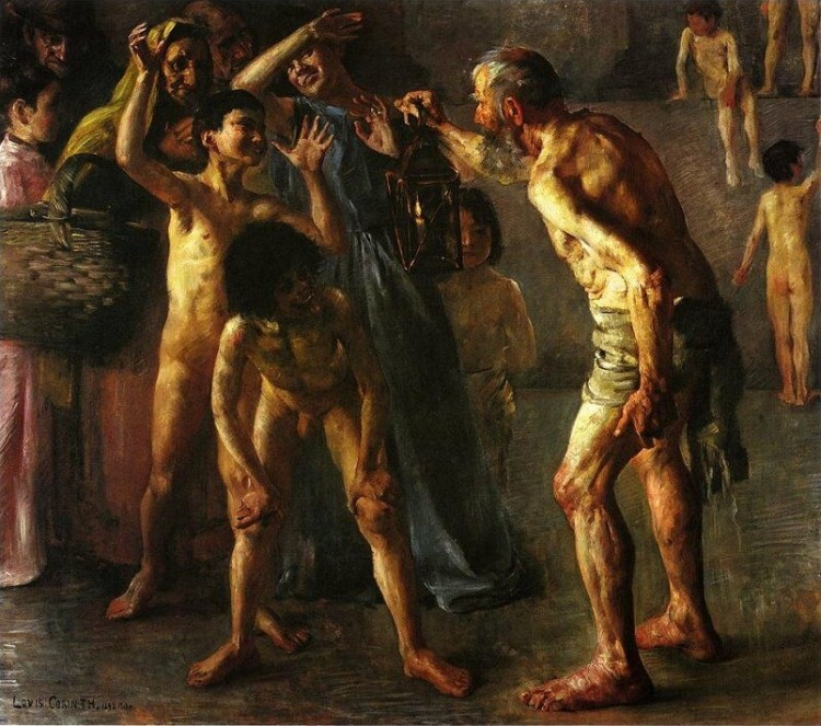 Lovis Corinth, Diogenes, oil on canvas, 1892