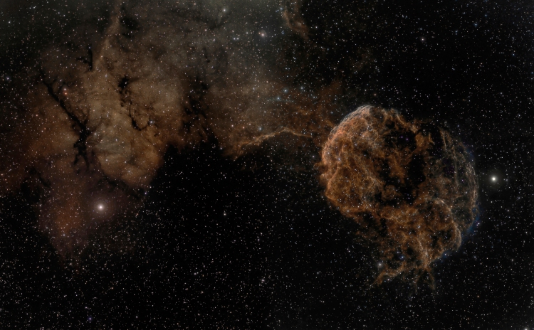 10. Sharpless 249 and the Jellyfish Nebula