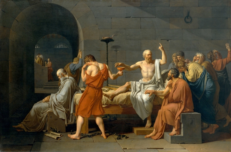 Jacques-Louis David (1748-1825) The Death of Socrates, 1787, oil on canvas, Metropolitan Museum of Art