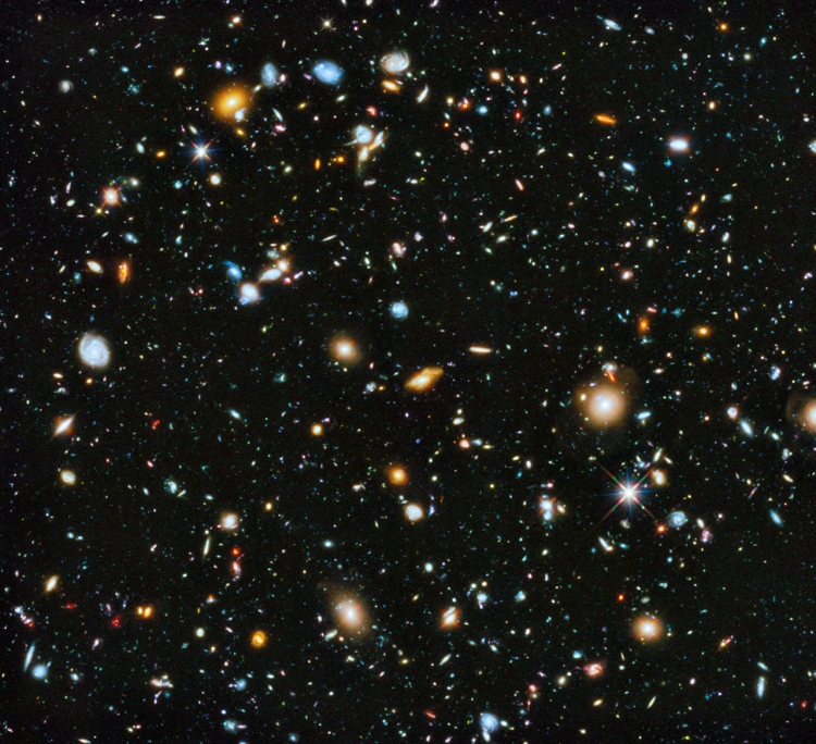 9. Hubble Ultra Deep Field 2014: Galaxies like colourful pieces of candy