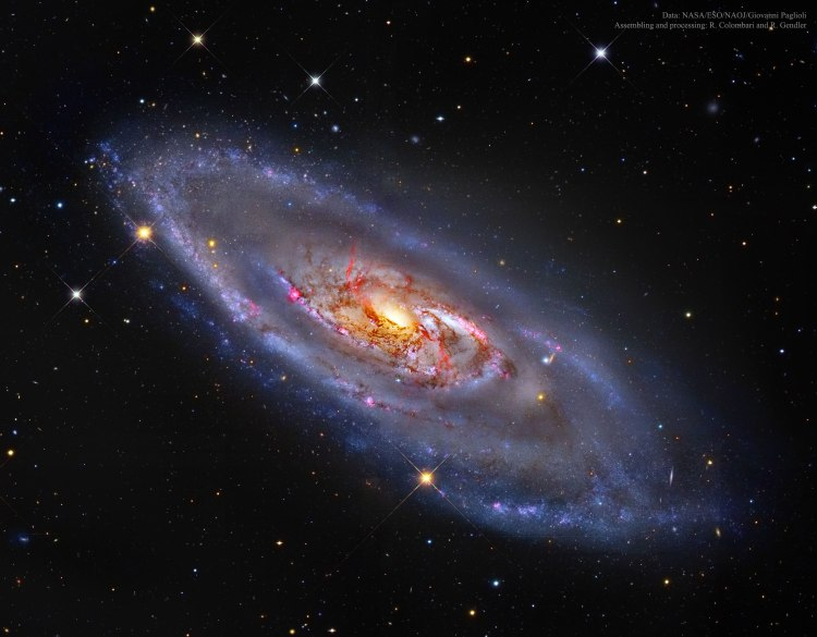 9. M106: A Spiral Galaxy with a Strange Centre