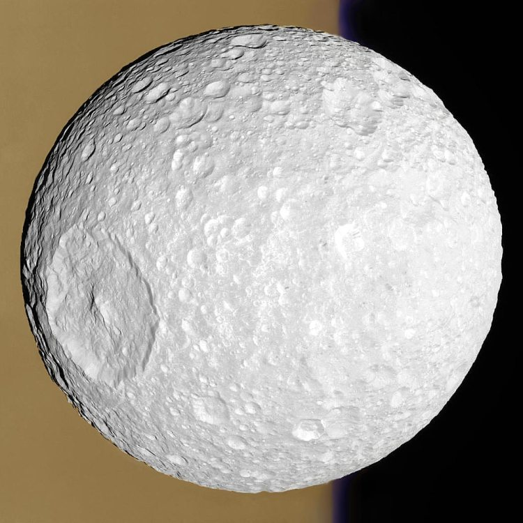 8. Mimas: Small Moon with a Big Crater