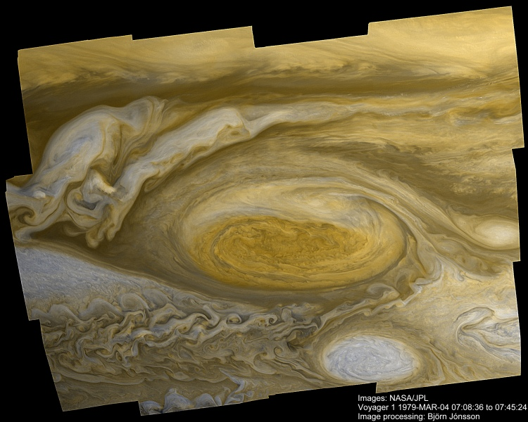 2. A hurricane larger than earth: Jupiter's Great Red Spot from Voyager 1