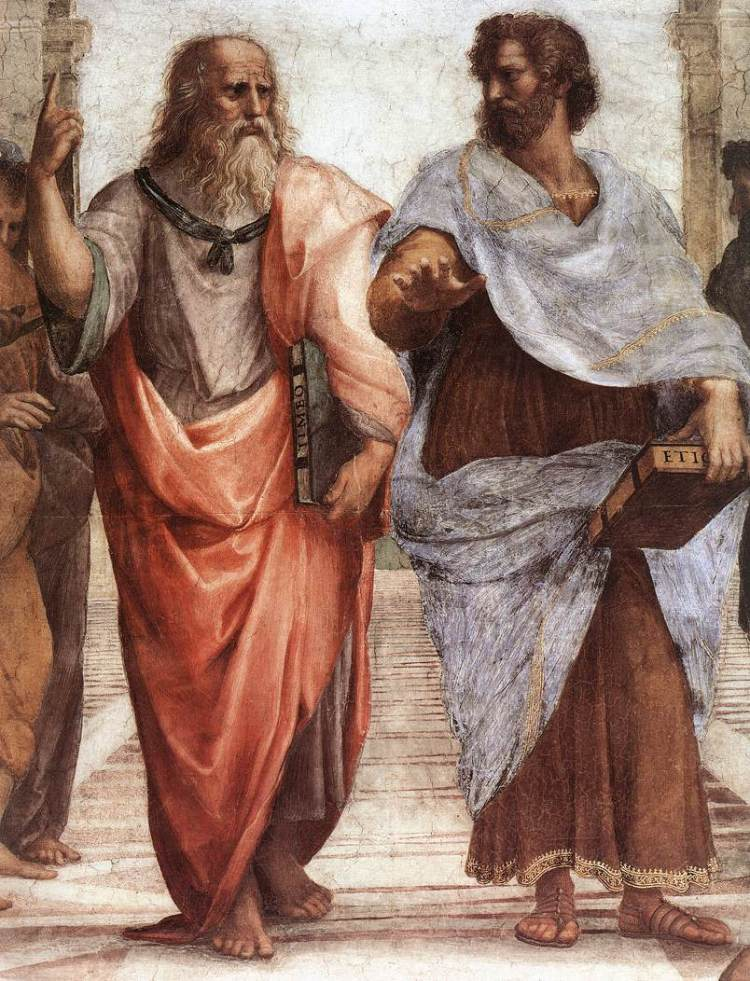 Plato and Aristotle in Raphael's 'The School of Athens', 1509-11, fresco, Apostolic Palace, Vatican City