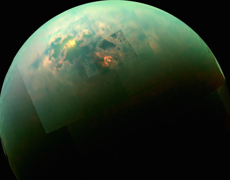 3. Titan Seas Reflect Sunlight