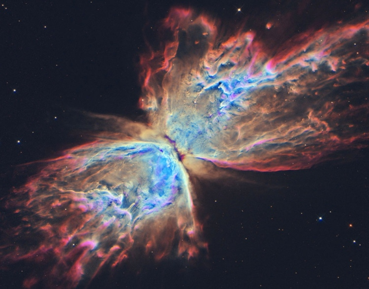 The Butterfly Nebula from Hubble