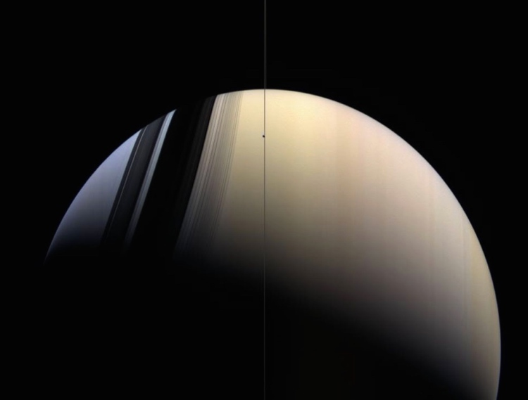 9. Saturn in Blue and Gold