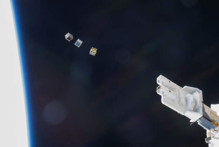 9. Three CubeSats Released