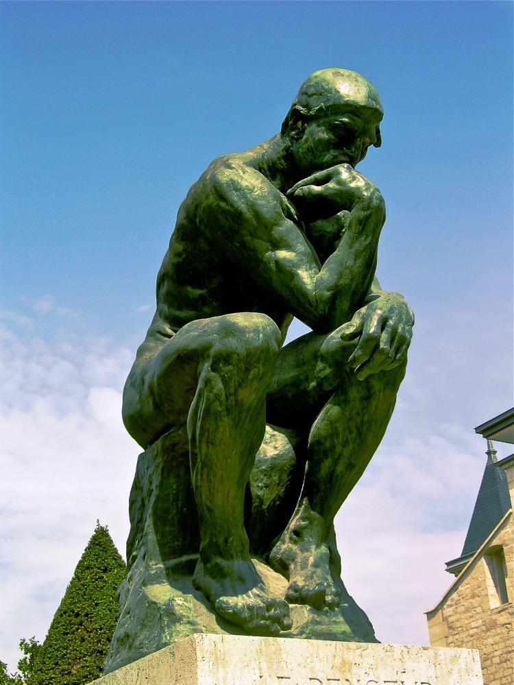 Auguste Rodin, 'Le Penseur', 1904, bronze, Musée Rodin, Paris. A testament to mystical 'reason'.