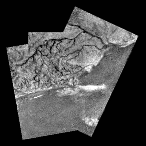 Riverbeds and lakebeds discovered on Saturn's Titan: methane rain, evaporating lakes, flowing rivers, and water ice-volcanoes are all likely exist on Titan.