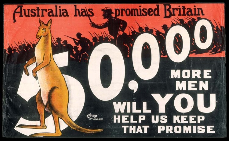 World War One enlistment poster