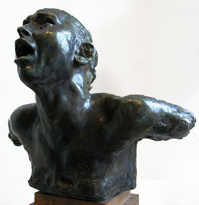 Auguste Rodin, The Cry, bronze, 1886, Musée Rodin