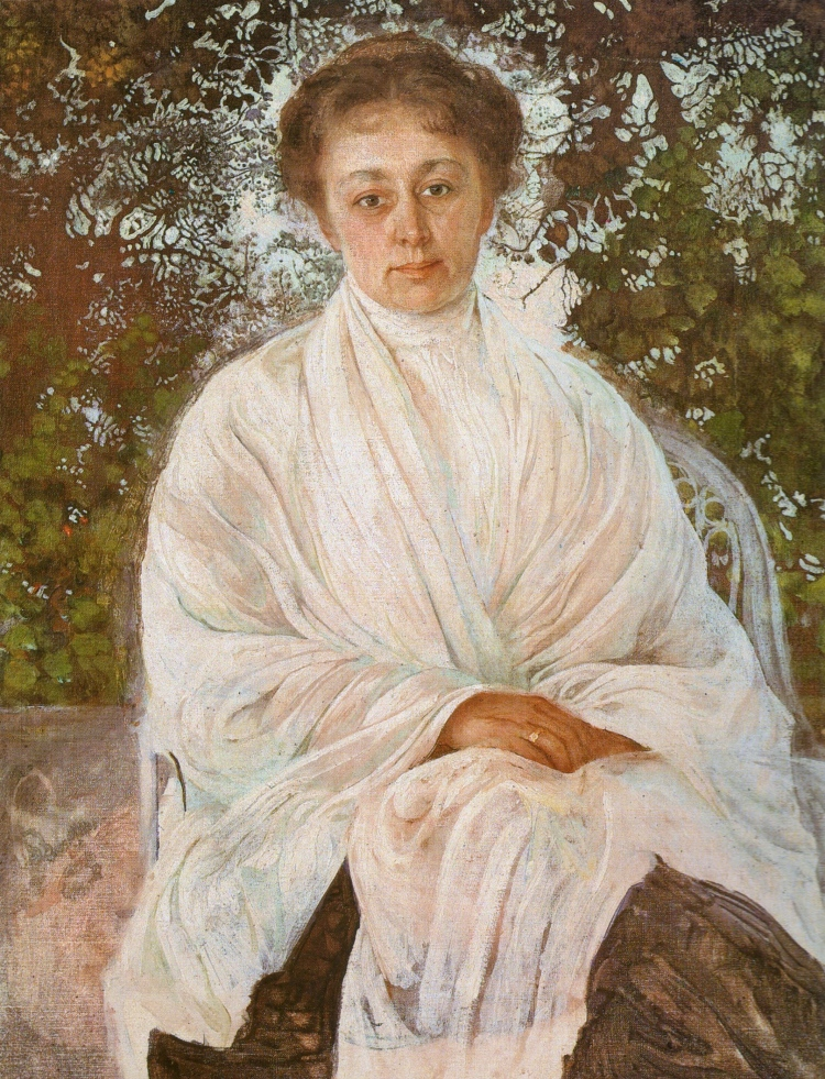 Isaac Brodsky, Portrait of Maria Andreyeva, 1910. Oil on canvas. The I. Brodsky Home Museum.