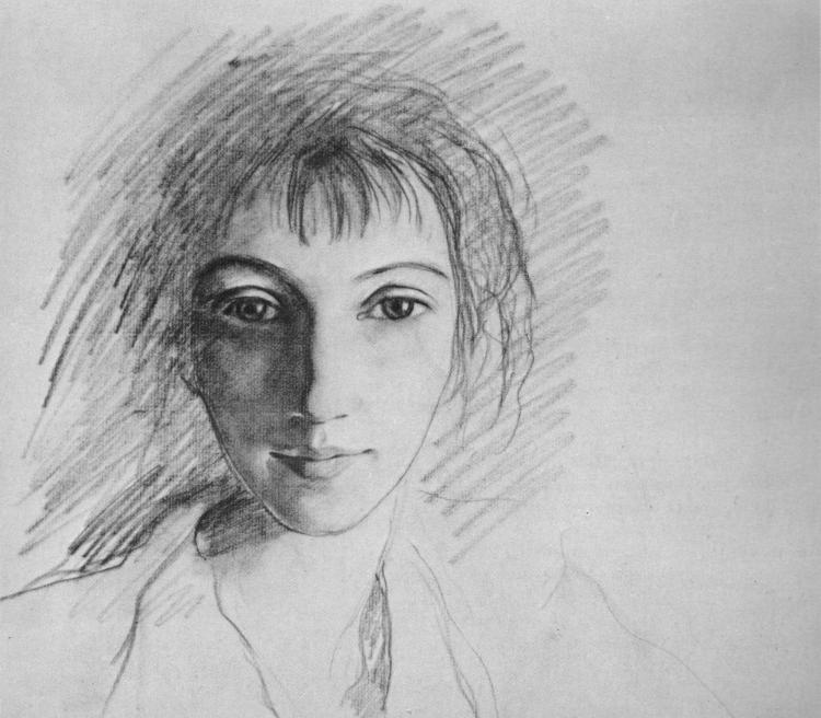 Zinaida Serebriakova, Self-portrait, 1910s. Lead pencil on paper. The Russian Museum