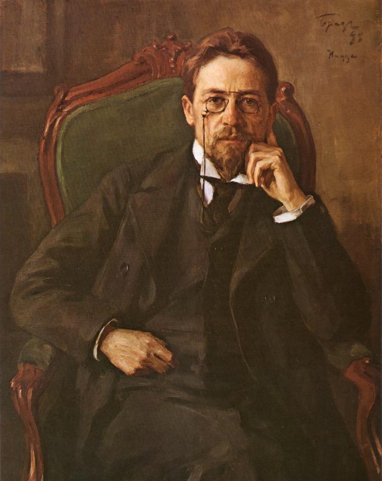 Osip Braz, Portrait of Anton Chekhov, 1898. Oil on canvas. The Tretyakov Gallery