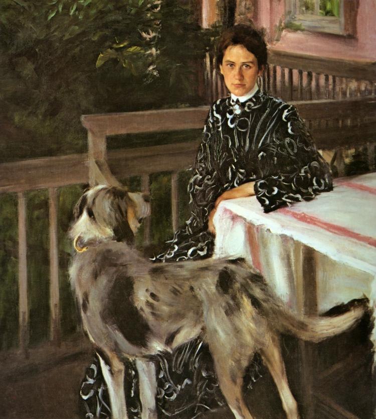 Boris Kustodiev, Portrait of Yulia Kustodieva, the Artist's Wife, 1903. Oil on canvas. The Russian Museum